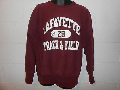 VTG 90s Distressed Champion Reverse Weave Lafayette Track & Field Sweatshirt XL