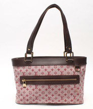 Auth Louis Vuitton Lucille Monogram Handbag Multi Pink Front Pocket LVB0546 - $455.40