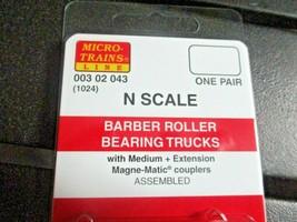Micro-Trains Stock # 00302043 (1026) Barber Roller Bearing Trucks Medium Ext Cou image 2