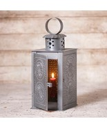 WATCHMAN'S Square Candle Lantern in Antiqued Punched Tin - $38.00