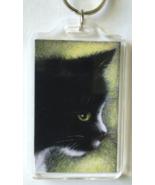 Large Cat Art Keychain - Homer Side - $8.00