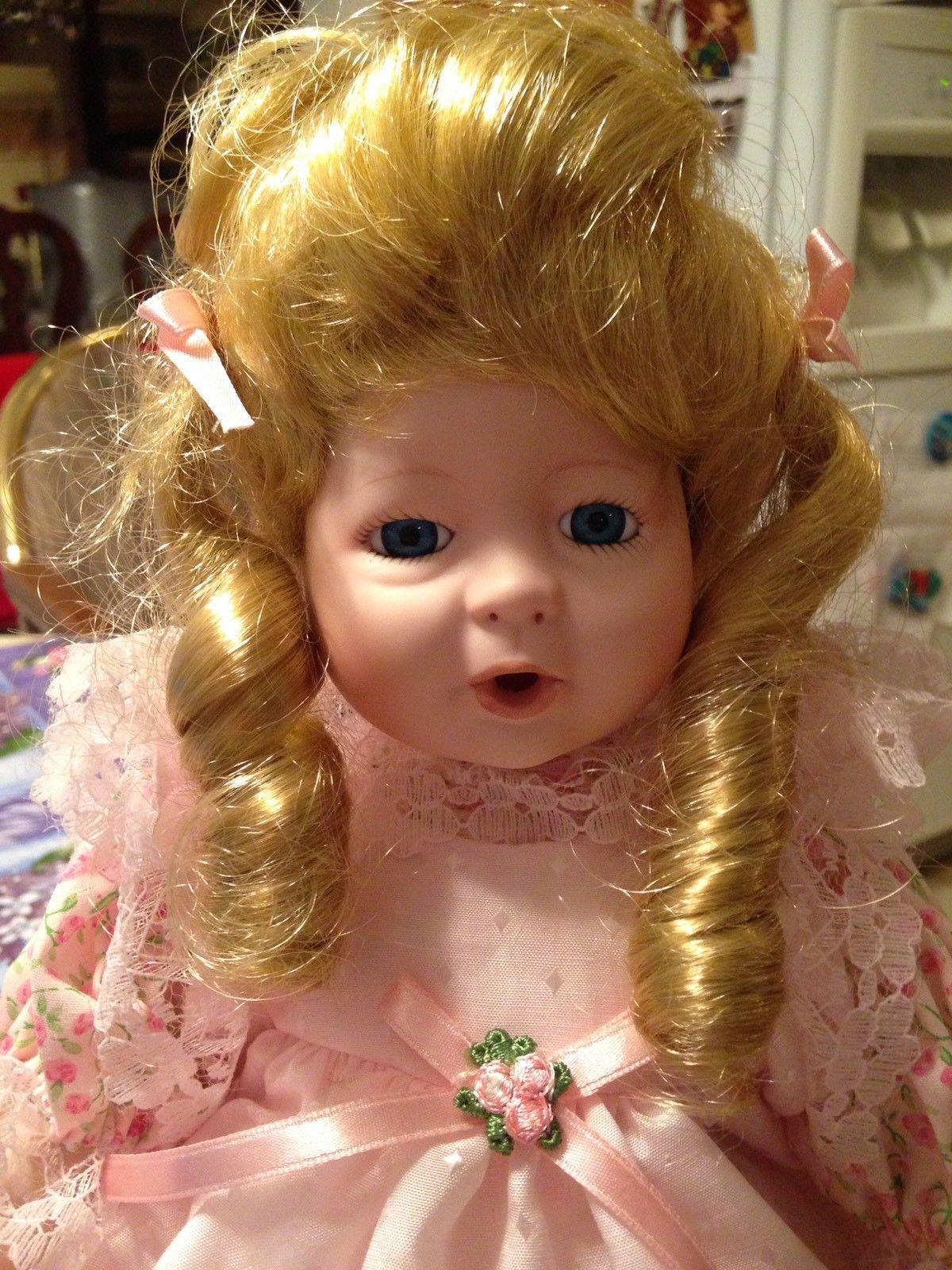 1992 JC Penney Exclusive Vintage Victorian Pink Floral Dress Porcelain Doll New