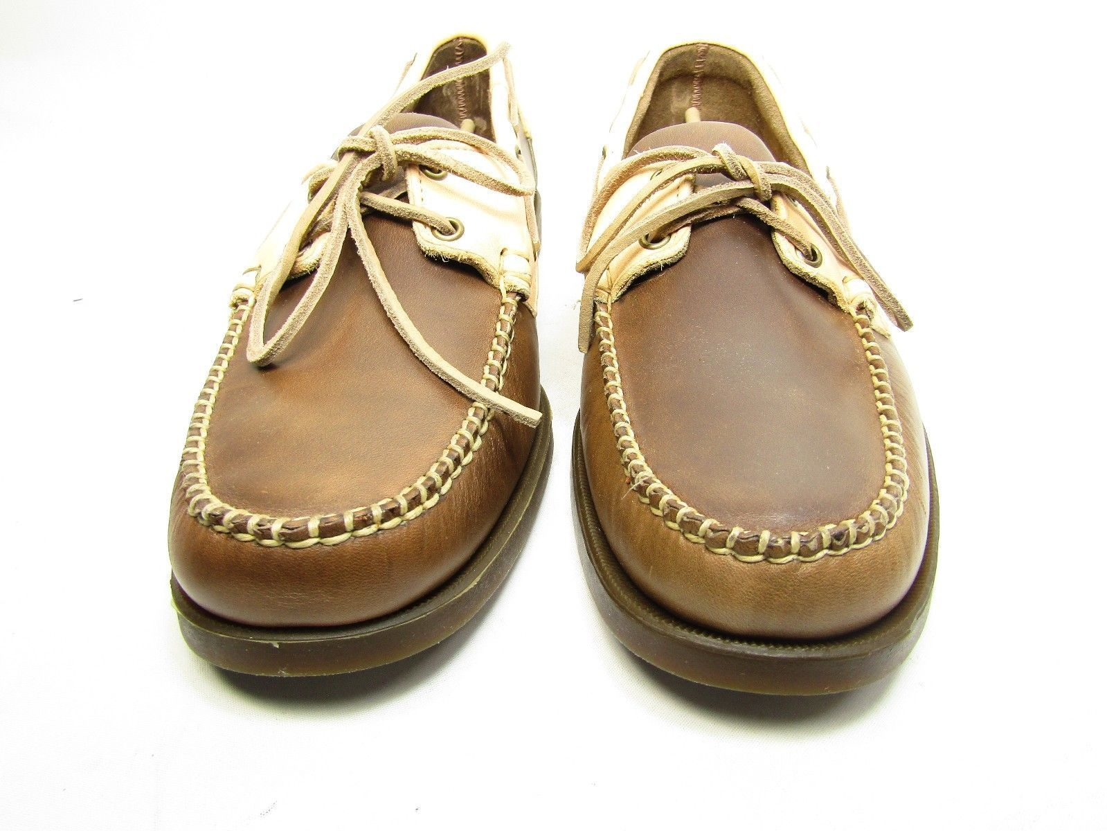 Sebago Horween Spinnaker Boat Shoes B720034 For Men Brown/bone Size 12M