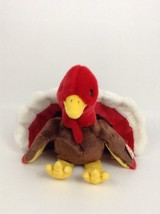 """Gobbles Turkey 1999 Plush Stuffed Toy Large 12"""" with Tags Ty Beanie Baby Buddies - $12.42"""
