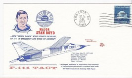 F-111 TACT FLIGHT #69 MAJOR STAN BOYD EDWARDS CA JUL 22 75 SPACE VOYAGE - $1.98