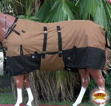 """82"""" Hilason 1200D Winter Waterproof Poly Horse Blanket Belly Wrap Copper U-L-82 - $84.99"""