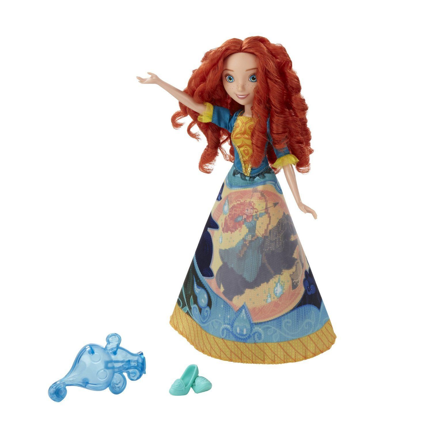 Disney Princess Merida Story Skirt Doll in Turquoise Blue by Hasbro
