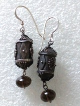 VINTAGE STERLING SILVER TRIBAL BOHO EXOTIC ETHNIC DANGLE EARRINGS 925 - $29.69