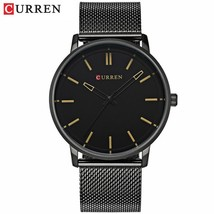 CURREN Watch Men Casual Sport Clock Mens Watches Top Brand Luxury Full Black Ste - $30.81