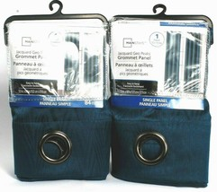 """2 Mainstays Grommet Panel Easy to Hang 105090 Ink Blue 52"""" X 84"""" Polyester - $45.99"""