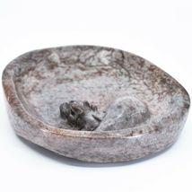 Hand Carved Zimbabwean Serpentine Stone Floating Hippopotamus Hippo Soap Dish image 3