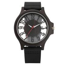 Mens Watch Vintage Wooden Watch Walnut Hollow Surface Transparent Dial Clock Mal - $48.00