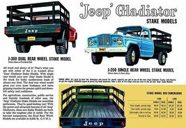 1962 Jeep Gladiator Stake Models - Promotional Advertising Poster - $9.99+