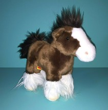 """Build A Bear Lil Furry Friend Mini Clydesdale Brown Horse Pony 7"""" Small ... - $36.95"""