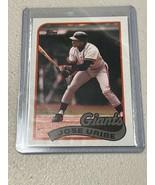 Rare Sought After 1989 JOSE URIBE Topps Baseball Card - $37.40