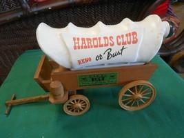 "Great Jim Beam Bottle- Harolds Club ""Reno Or Bust"" Wagon - $25.33"