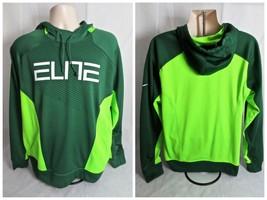 Nike Elite Therma Fit Green Hoodie Sweatshirt Men Large - $25.99