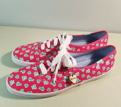 Taylor Swift Keds Womens Tennis Shoes W Charm Size 10 Pink  - £16.14 GBP