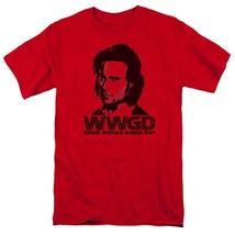Battlestar Galactica WWGD Sci-Fi TV series graphic red adult t-shirt BSG220 image 1