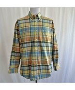Orvis Signature Collection Mens Plaid Shirt 100% Cotton Sz L - $38.60