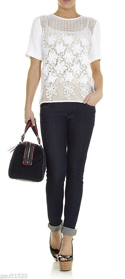 NWT Juicy Couture Hot Designer Dark Rinse Sexy Trousers Skinny Jeans 26 4 $128 image 12