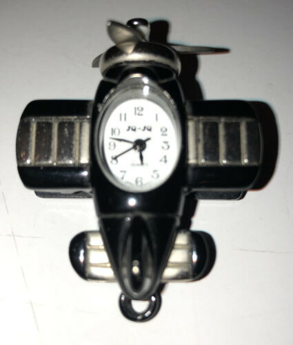 Primary image for JQ JQ Black&silver Airplan Pendant Watch -