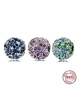 AUTHENTIC PДNDORA COLOURFUL ROUND BEADS 925 Sterling Silver Charm Bracel... - $14.87