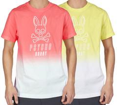 Men's Psycho Bunny Short Sleeve Two Tone Fairbanks Graphic Tee Logo T-Shirt