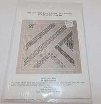 20th century Blackwork, Goldwork Pulled Thread Pattern 1997 June Moes - $19.27
