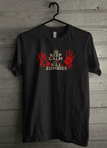 Keep Calm and Kill Zombies - Custom Men's T-Shirt (329) - $19.13+