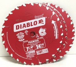 "(New) Diablo by Freud D0724A  7-1/4"" 24T  Framing Saw Blade Lot of 6 - $63.35"