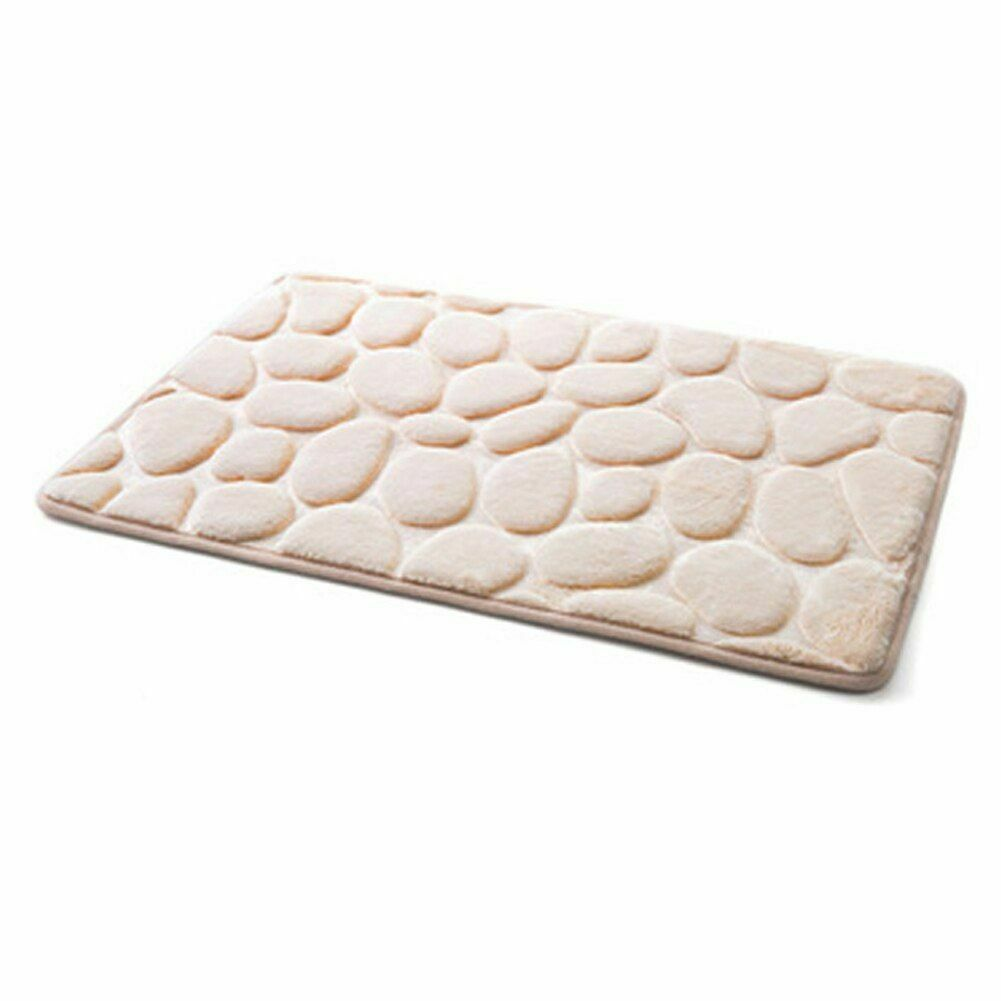 Pebble Flannel Non Slip Rug Foam Pad Mat Floor 40*60cm Carpet Home Garden Decor image 5
