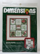 Dimensions Christmas Patchwork Net Darning Lace Kit - 1 Picture or 9 Orn... - $18.95