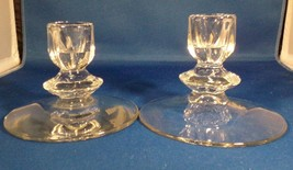 """Duncan Miller 2 Candle Holders Canterbury Single-Light Clear Glass 3.5"""" ... - $5.94"""