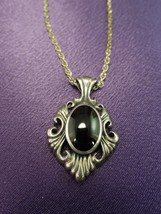 KBN Sterling Silver Necklace W/ Black Onyx Stone Pendant - $80.19