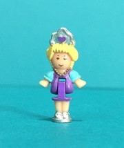 Polly Pocket Pony Parade Ring Replacement Mini Doll Figure Vintage Blueb... - $9.95