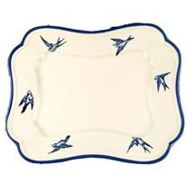 Gear Arita Blue Damask 15 In Serving Platter Bluebird Rectangular Tray R... - $40.00