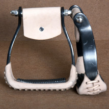 Hilason Western AnodizeAluminium Color Horse Barrel Racing Saddle Stirrups Pair - $34.95