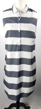 Old Navy Shirt Dress M Blue White Stripes Cotton Sleeveless - $29.69