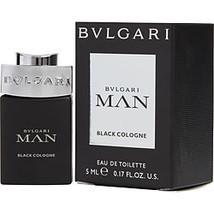 Bvlgari Man Black Cologne By Bvlgari Edt 0.17 Oz Mini - $17.00