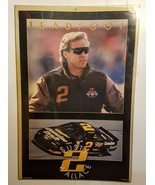 """Rusty Wallace Poster 1994 VTG 23 x 35"""" LEADFOOT Miller Genuine Draft Car... - $12.86"""