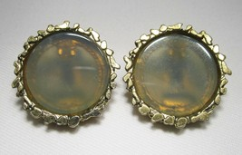 Large Vintage Swoboda Gold Toned Clip Earrings C1267 - $14.50
