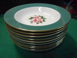 "HOMER LAUGHLIN USA ""Empire Green"" Dinnerware- Set of 10 SOUP BOWLS - $27.43"