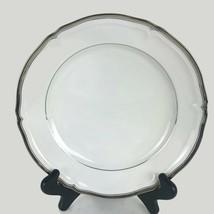 "Mikasa Hyde Park Platinum Rim Soup Bowl Fine China Dinnerware White 9-1/8"" - $12.17"