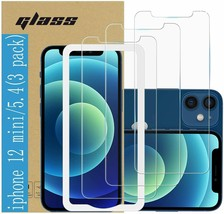 Tempered Glass Film Screen Protector for Apple iPhone 12 and iPhone 5.4 Screen M - $9.85