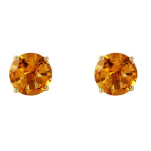 3.1 Carat 14K Solid Gold I Saw The Sun Citrine Earrings - $218.48