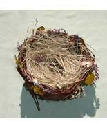 Small  Twig Bird Nest with Dried Flowers - Floral Craft Supply - $1.99