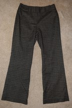 New Signature Larry Levine Dress Pants Plaid Lined Career Trouser Slacks 8P - $21.49