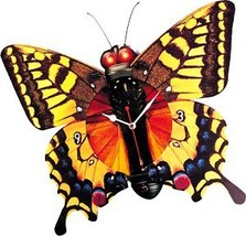 Animated Musical Butterfly Wall Clock - $39.75