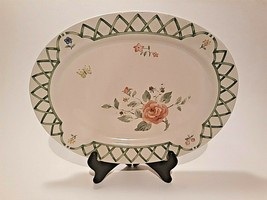 "Pfaltzgraff Garden Trellis Oval Serving Holiday Platter 14.5"" x 10.5""  - $10.42"